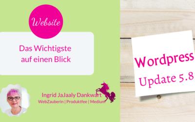 WordPress 5.8 Update | Das Wichtigste auf einen Blick