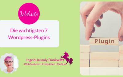 Die wichtigsten 7 WordPress Plugins